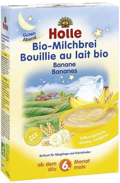 Detská celozrnná mliečna kaša s banánom od 6. mesiaca pre dobrý spánok Holle