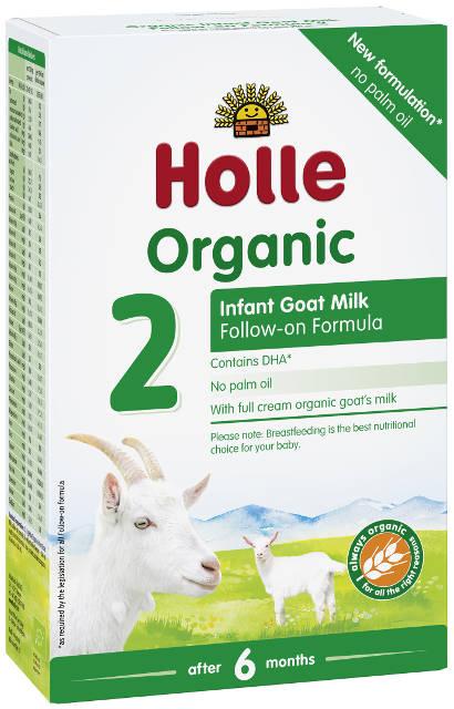 Holle Bio Kozie mlieko 2 následné dojčenské mlieko, výživa od 6. mesiaca