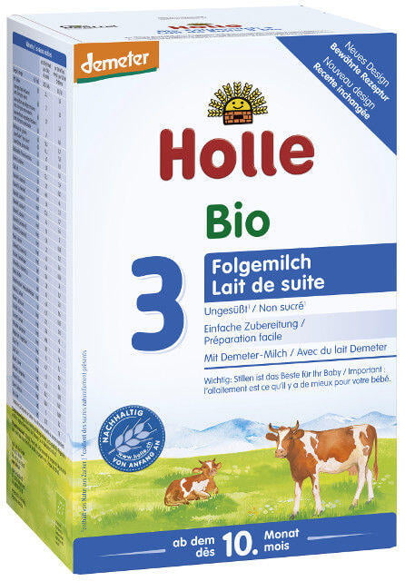 Holle Bio 3 následné dojčenské mlieko, výživa od 10. mesiaca