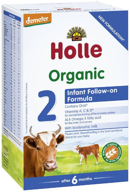 Holle Bio 2 pokračovacie dojčenské mlieko, výživa od 6. mesiaca