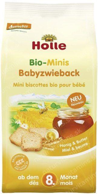 Holle organické detské Mini Sucháre od 8. mesiaca