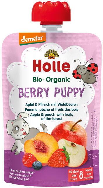 Holle Detské Bio pyré (kapsička) jablko, broskyňa a lesné ovocie od 8 mesiaca