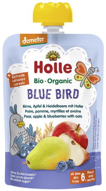 Holle Detské Bio pyré (kapsička) hruška, jablko, čučoriedky a ovos od 6 mesiaca