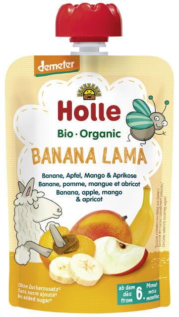 Holle Detské Bio pyré (kapsička) banán, jablko, mango a marhuľa od 6 mesiaca