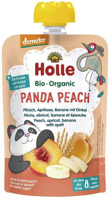 Holle Detské Bio pyré (kapsička) broskyňa, marhuľa, banán a špalda od 8 mesiaca