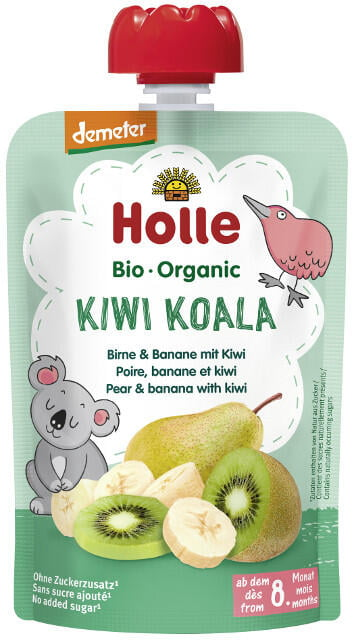 Holle Detské Bio pyré (kapsička) hruška, banán a kiwi od 8 mesica