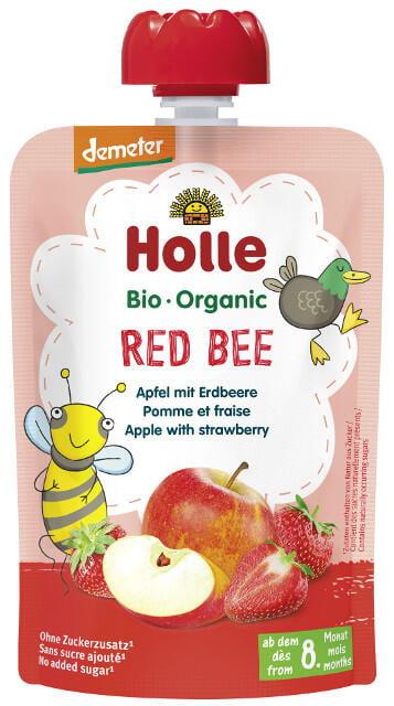 Holle Detské Bio pyré (kapsička) jablko a jahoda od 8 mesiaca