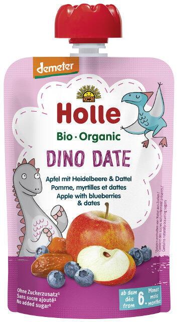 Holle Detské Bio pyré (kapsička) jablko, čučoriedka a datľa od 6 mesiaca