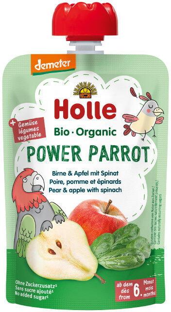 Holle Detské Bio pyré (kapsička) jablko, hruška a špenát od 6 mesiaca
