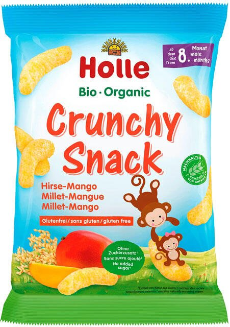 Holle Bio chrumkavé pšeno-mango občerstvenie od 8. mesiaca