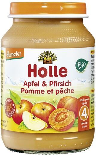 Detská výživa (príkrm) jablko a broskyňa od 4. mesiaca 190 g
