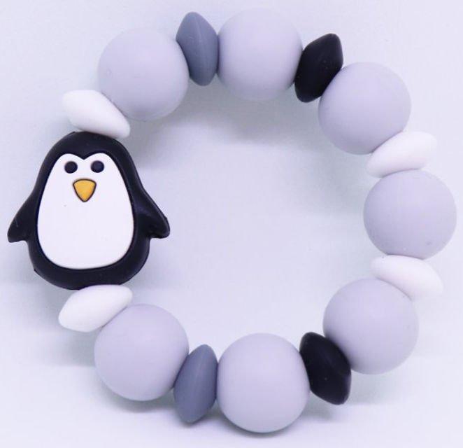 Silikónové hryzátko čierny tučniak | Mimijo