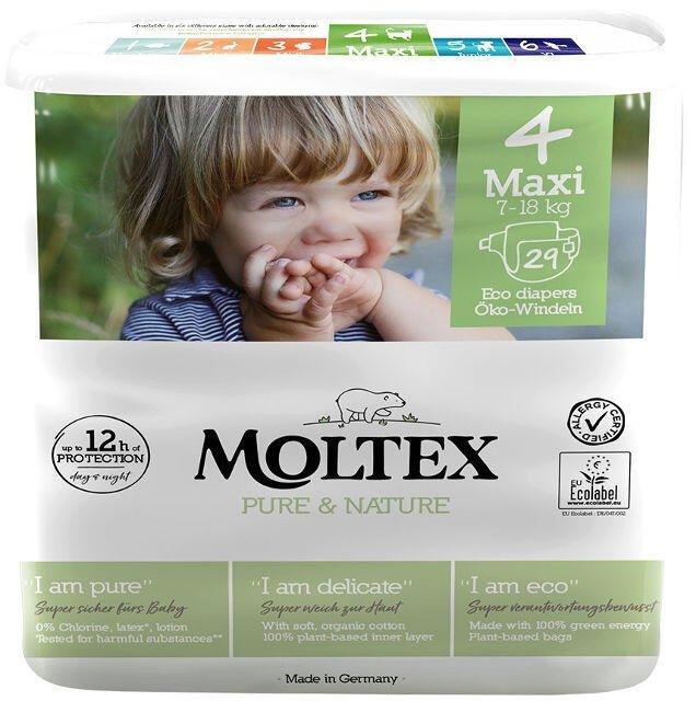 Detské EKO plienky 4 (7-18 kg) Moltex