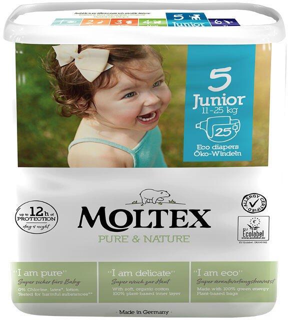 Detské EKO plienky 5 (11-25 kg) Moltex