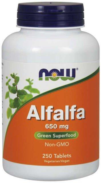 Alfalfa (Lucerna siata) FORTE 650 mg Now Foods | výživový doplnok | vitamín