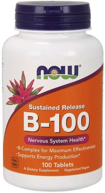 B-Komplex 100 mg časované Now Foods | výživový doplnok | vitamín