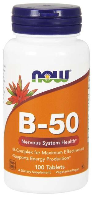 B-Komplex 50 mg Now Foods | výživový doplnok | vitamín