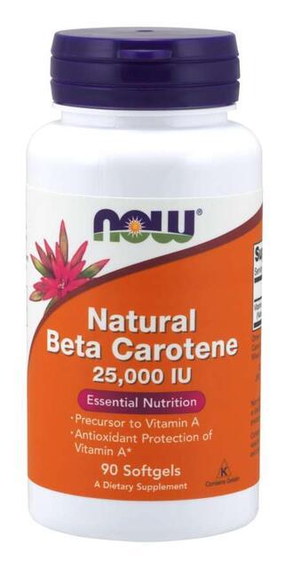 Beta Karotén 25,000 IU Now Foods | výživový doplnok | vitamín