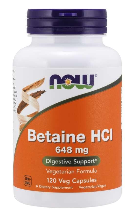 Betaín HCI, Pepsín 648/150 mg Now Foods | výživový doplnok | vitamín