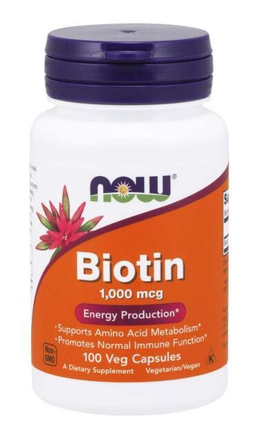 Biotin 1000 mcg Now Foods | výživový doplnok | vitamín