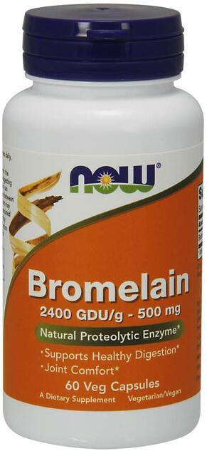 Bromelín (Bromelain) 500 mg Now Foods | výživový doplnok | vitamín