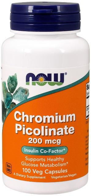 Chróm Pikolinát 200 mcg Now Foods | výživový doplnok | vitamín