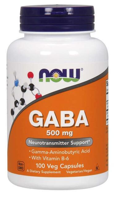 GABA 500 mg Now Foods | výživový doplnok | vitamín