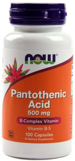 Kyselina pantoténová (Vitamín B5) 500 mg Now Foods | výživový doplnok | vitamín