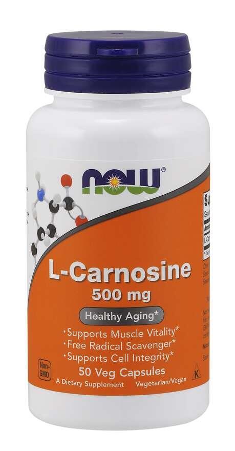 L-Karnosín 500 mg Now Foods   výživový doplnok   vitamín