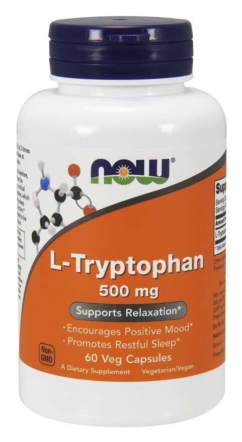 L-Tryptophan 500 mg Now Foods | výživový doplnok | vitamín