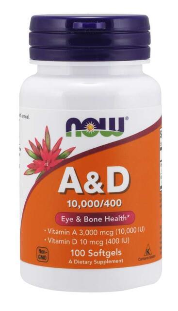 Vitamín A + D 10.000/400 IU Now Foods | výživový doplnok | vitamín