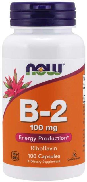 Vitamín B2 (riboflavín) 100 mg  Now Foods | výživový doplnok | vitamín