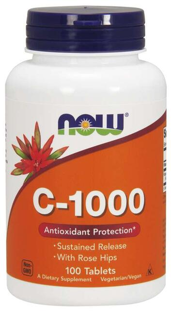 Vitamín C 1000 mg + šípky časované Now Foods   výživový doplnok   vitamín