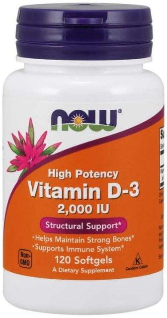 Vitamín D3 2000 IU Now Foods | výživový doplnok | vitamín