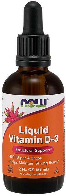 Vitamín D3 400 IU kvapky Now Foods | výživový doplnok | vitamín