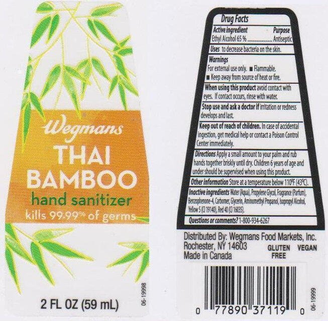 Antibakteriálna dezinfekcia na ruky s extraktom z Bambusu 59 ml Wegman