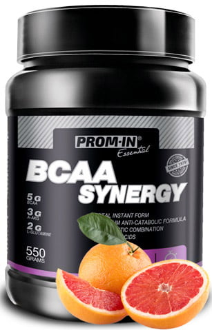 BCAA Synergy ružový grep 550g   Prom-In
