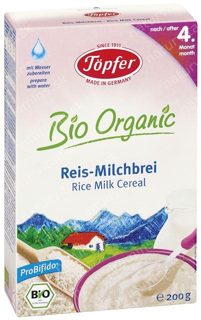 Detská BIO ryžová kaša mliečna od 4. mesiaca Topfer
