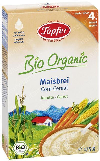 Detská BIO zeleninová kaša mrkva a kukurica od 4. mesiaca Topfer