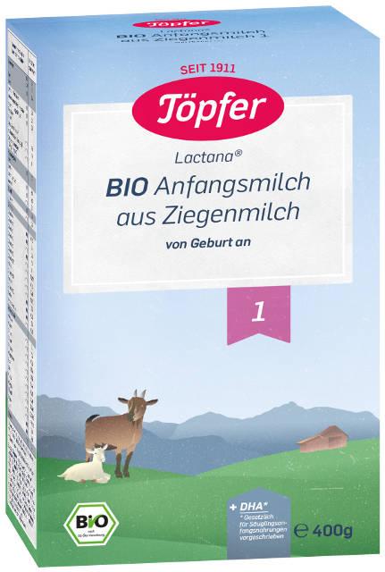 Topfer Bio Kozie mlieko 1 počiatočné dojčenské mlieko, výživa od narodenia