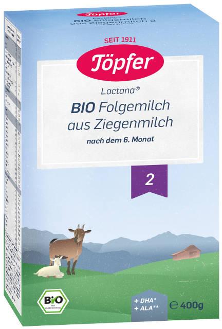Topfer Bio Kozie mlieko 2 následné dojčenské mlieko, výživa od 6. mesiaca