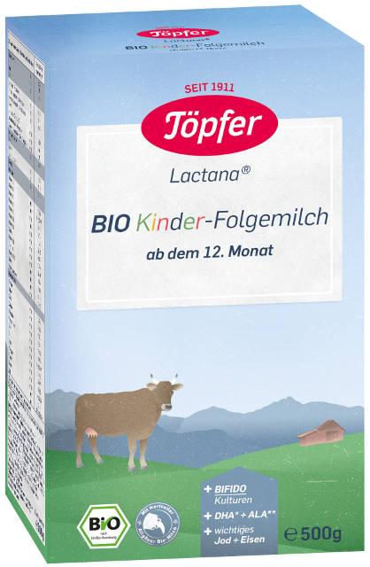 Topfer Bio Lactana detská následné dojčenské mlieko, výživa od 12. mesiaca