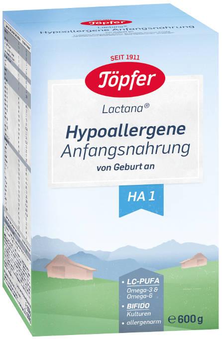 Lactana HA 1 (hypoalergénne počiatočné dojčenské mlieko, výživa pre dojčatá od narodenia) Topfer