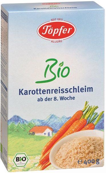 Topfer Detská BIO ryžovo, mrkvová kaša od 8. týždňa