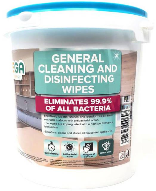 Antibakteriálna dezinfekcia / vlhčené utierky 300x | Vega Wipes