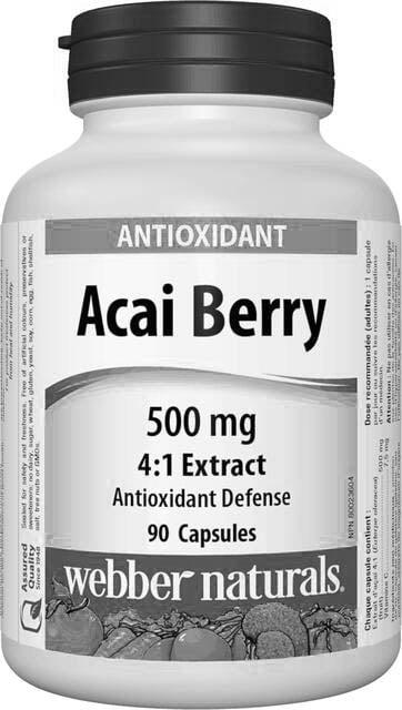 Acai Berry 500 mg Webber Naturals | výživový doplnok | vitamín