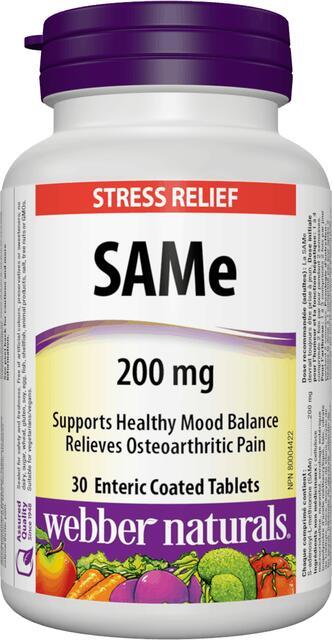 SAMe 200 mg Webber Naturals | výživový doplnok | vitamín