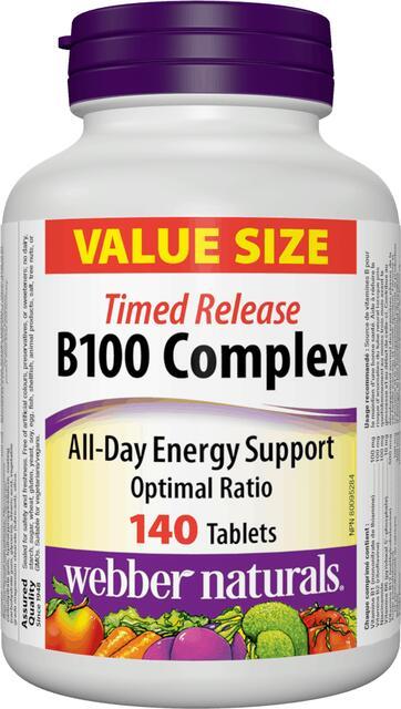 B-Komplex 100 mg časované Webber Naturals | výživový doplnok | vitamín