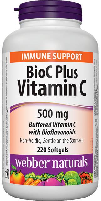 BioC Plus Vitamín C 500 mg  Webber Naturals | výživový doplnok | vitamín