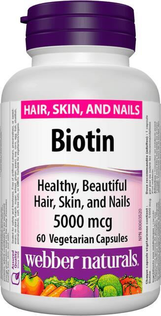 Biotin 5000 mcg Webber Naturals   výživový doplnok   vitamín